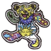 Grateful Dead - Dancing Bear By Dan Morris - Embroidered Iron on Patch
