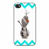 Olaf Disney Frozen Blue Chevron iPhone 4s Case