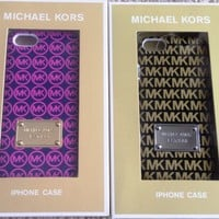 NEW MICHAEL KORS GOLD PINK MK BLACK POLKA DOTS IPHONE 5 5S HARD CASE ALL CARRIER