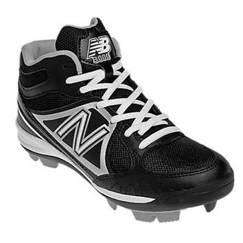 New Balance YB3000 Youth Mid Molded Cleats - Black/Silver