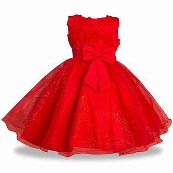 Kids Girls party Wear Costume For Children Flower Girls Bridesmaid Wedding Dress Elegant Formal Gown Teenage Girls Prom Clothes
