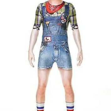 Adult Hillbilly Faux Real Morphsuit