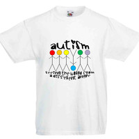 Autism Seeing The World From A Different Angle Kids T Shirt