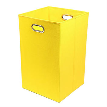 Sweets Solid Yellow Folding Laundry Bin