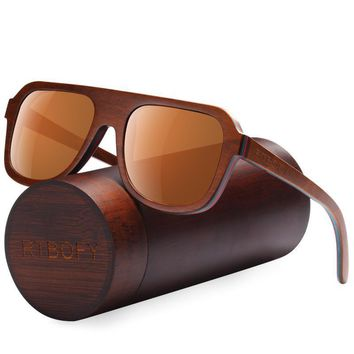 Wood Sunglasses Men Brand Designer Polarized Sunglasses Wood Sun Glasses For Men
