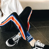 Champion Three bars vertical stripes ribbon pants Trousers Sweatpants