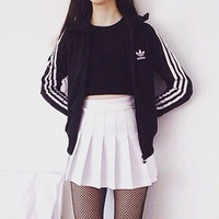 shosouvenir  Adidas Unisex Zipper Fashion Coat Jacket Sweatshirt