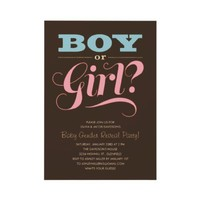 Gender Reveal Party Invitations from Zazzle.com