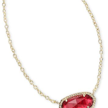 Kendra Scott Elisa Clear Berry Gold Necklace