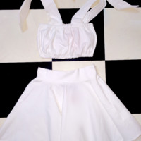 SWEET LORD O'MIGHTY! MILKMAID TOP IN WHITE