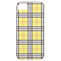 Classic Yellow and Red Plaid Tartan Pattern iPhone 5 Covers