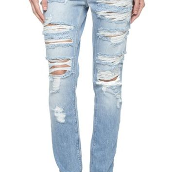 Ksubi Slim Straight Destroyed Jeans