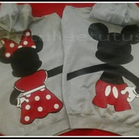Hoodie Style Disney Inspired Full Body Back Mickey and Minnie Perfect For cooler days and in the evening