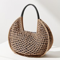 Large Circle Straw Tote Bag | Urban Outfitters