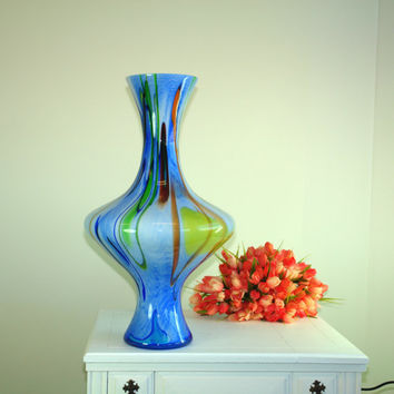 Mother's Day gifts glass vase hand blown glass vases black Makora made in Poland, colored, weddings gift ideas