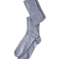 Ribbed Over-the-Knee Socks by Charlotte Russe - Gray
