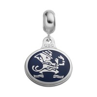 Fiora Sterling Silver Notre Dame Fighting Irish Logo Charm (Grey)
