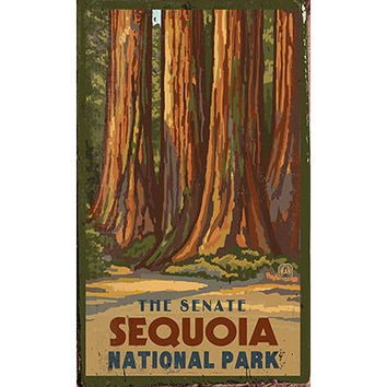 Personalized Senate Sequoia National Park Wood Sign