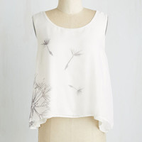 Short Length Sleeveless Make a Wisp Top by Pink Martini from ModCloth
