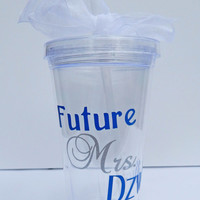 Engagement Gift / Future Mrs. Tumbler / Bridal Shower Gift / Bride to Be / Future Mrs. / Personalized Tumbler