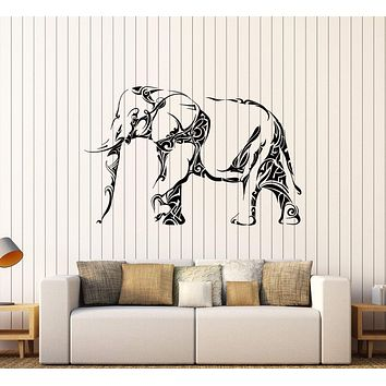 Vinyl Wall Decal Elephant Animal Tribal Art Pattern Stickers Mural Unique Gift (438ig)