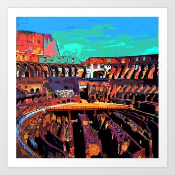 Coliseum Art Print by supersarah73
