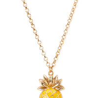 Pineapple Pendant Necklace | FOREVER21 - 1000107702