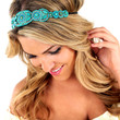 Skipping Steps Headband: Turquoise