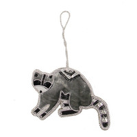 Raccoon Ornament Handmade in India