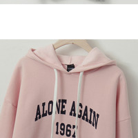 Buy CLICK Lettering Brushed-Fleece Lined Hoodie | YesStyle