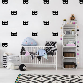 Catwomen Wall Decals, Wall Stickers, Cat Wall Stickers, Catwomen Pattern, Kids Wall Decal, Kids Room Decal, Pattern Wall, Catwomen Decals,