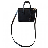 Baby day bag in black leather SAINT LAURENT Black