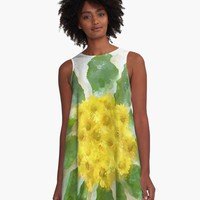 'Sunburst Daisies' A-Line Dress by SusanEileenEvan