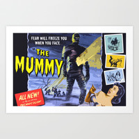 The Mummy * Vintage Movies Inspiration Art Print by Freak Shop