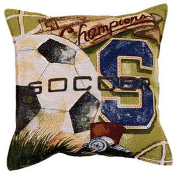 Soccer Throw Pillow - Spot Clean