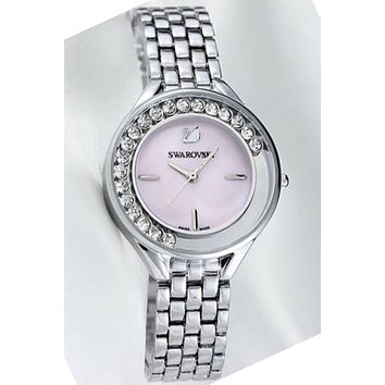 Swarovski men and women fashion trendy quartz watch F-YF-GZYFBY Light pink dial