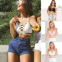 Comfortable Bralette Beach Hot Summer Stylish Women's Bra Sexy Tops Shirt Vest [7680872067]