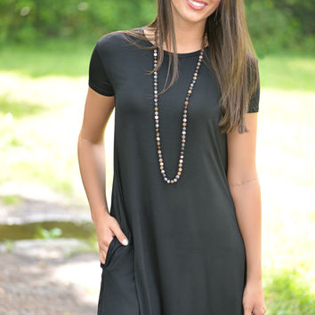 Irresistible You Black PIKO Dress