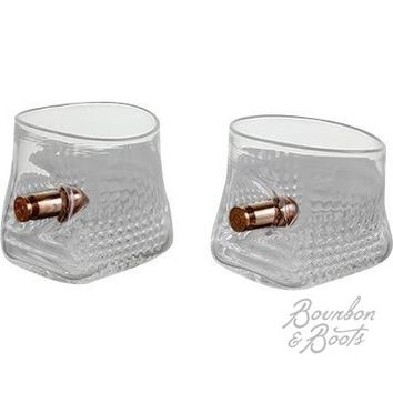.45 Caliber Handcrafted Copper Bullet Glass Set
