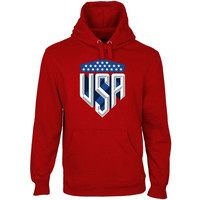 USA USA Shield Pullover Hoodie - Red - http://www.shareasale.com/m-pr.cfm?merchantID=7124&userID=1042934&productID=541931554 / US Soccer