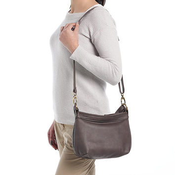 Small leather crossbody bag - Soft leather hobo bag - SMALL HELEN bag