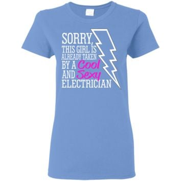 Electricians Girl Tee Shirt Form Fitting