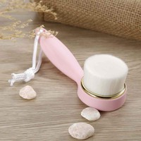 PRO 1PC Soft Facial Deep Cleansing Brush flexible Sterile Fiber Wash Pore Remove Black Spots Face Cleaner with Rope