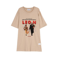 WIDE FIT LEON T SHIRT (BEIGE)