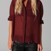 MINKPINK Sheer Indulgence Blouse