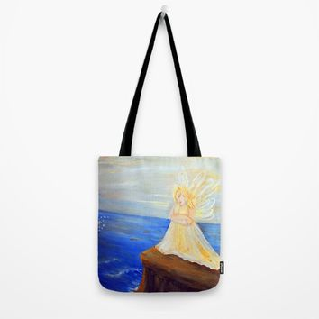 Invite your Angel | Angels are here Tote Bag by Azima