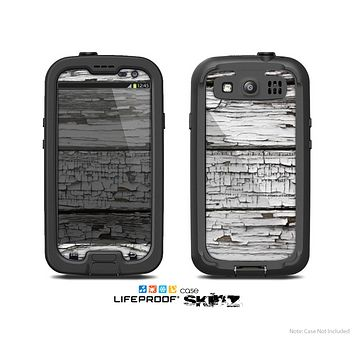 The White Wide Aged Wood Planks Skin For The Samsung Galaxy S3 LifeProof Case