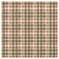 Peach Green Yellow Plaid Pattern Fabric