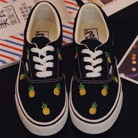 Pineapple Canvas Shoes