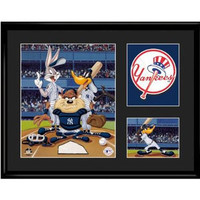New York Yankees MLB Limited Edition Lithograph Featuring The Looney Tunes As New York Yankees